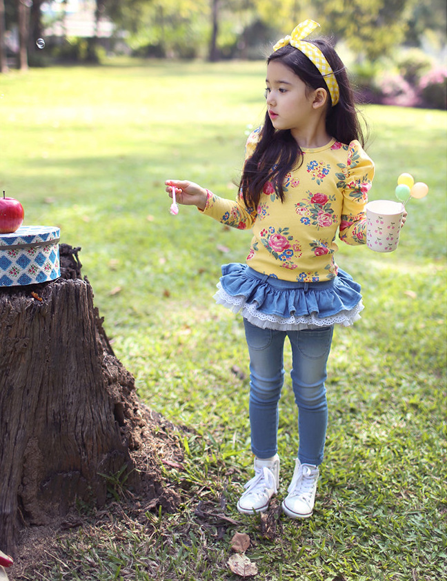 SAMGAMI-BABY-Baby-girls-spring-and-autumn-long-jeans-pants-female-child-lotus-leaf-denim-skirt-pants-legging-Culottes-4