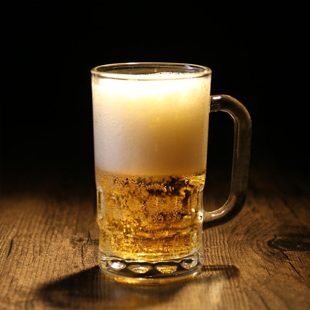 Beer Mugs Handle Mug Drinking Insulation Transparent Crystal Glass Tea Coffee Cup Drinkware Milk Kitchen Accessories