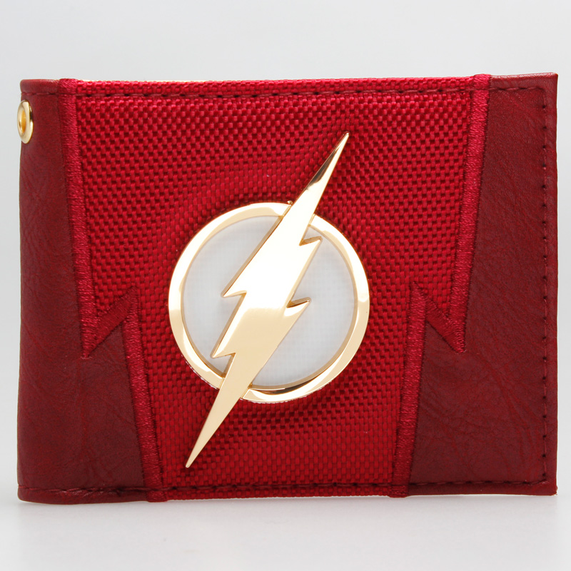 DC Comics The Flash Suit Up Bifold Boxed Wallet DFT-1875 mens batman logo badge bifold wallet dft 1327