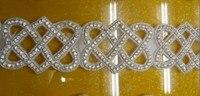 Crystal rhinestone beaded bridal trims for Wedding dresseshot fix adhesive rhinestone glass strass swarovski Crystal