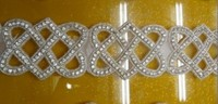 2014 New Bling Crystal Rhinestone Beaded Bridal Trims For Dresseshot Fix Rhinestone Trimming