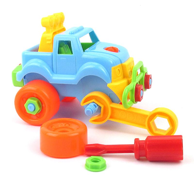 DIY Assembly Toy Vehicle Plastic Detachable Car Model Toys Handwork Training Early Educational Kids Children Gifts Present