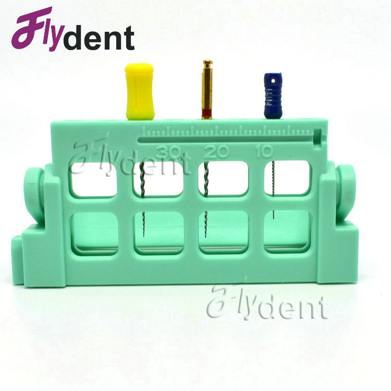 Dental  Plastic Holder Plastic Stand  Root Canal File Holder Plastic Endo Measuring Instrument