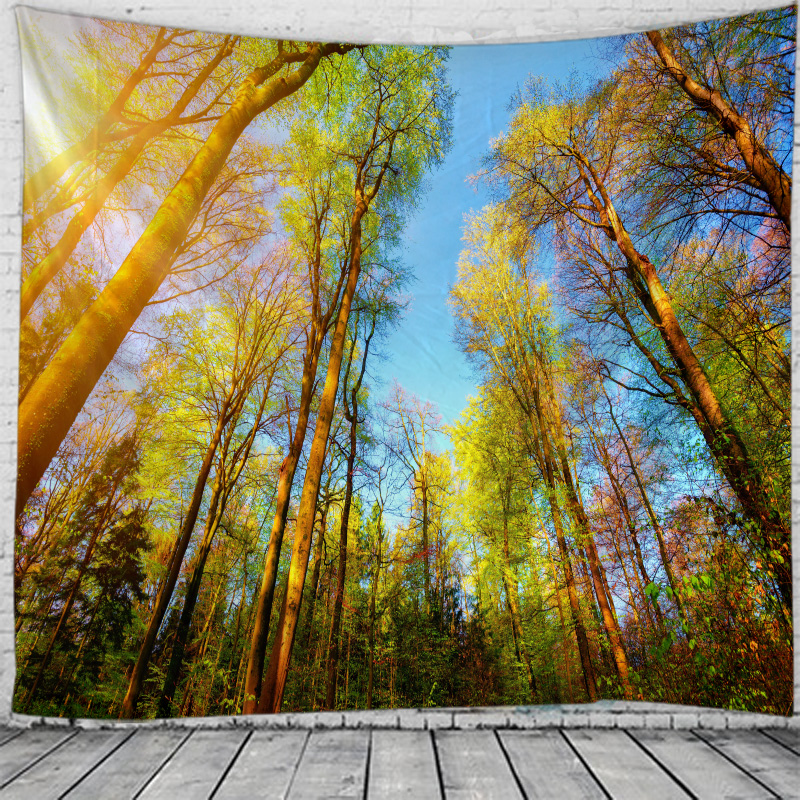 Towering Tree Scenery Tapestry Indian Mandala Tapestry Wall Hanging Tapestries Boho Bedroom Wall Rug Couch Blanket 6 Size in Tapestry from Home Garden