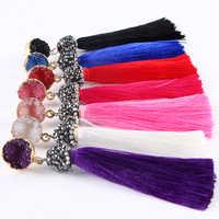 Hot Elegant Tassel Drop Earrings Multi Color Drop Dangle Earrings Pink Blue For Women Jewelry Pendientes Oorbellen Voor Vrouwen