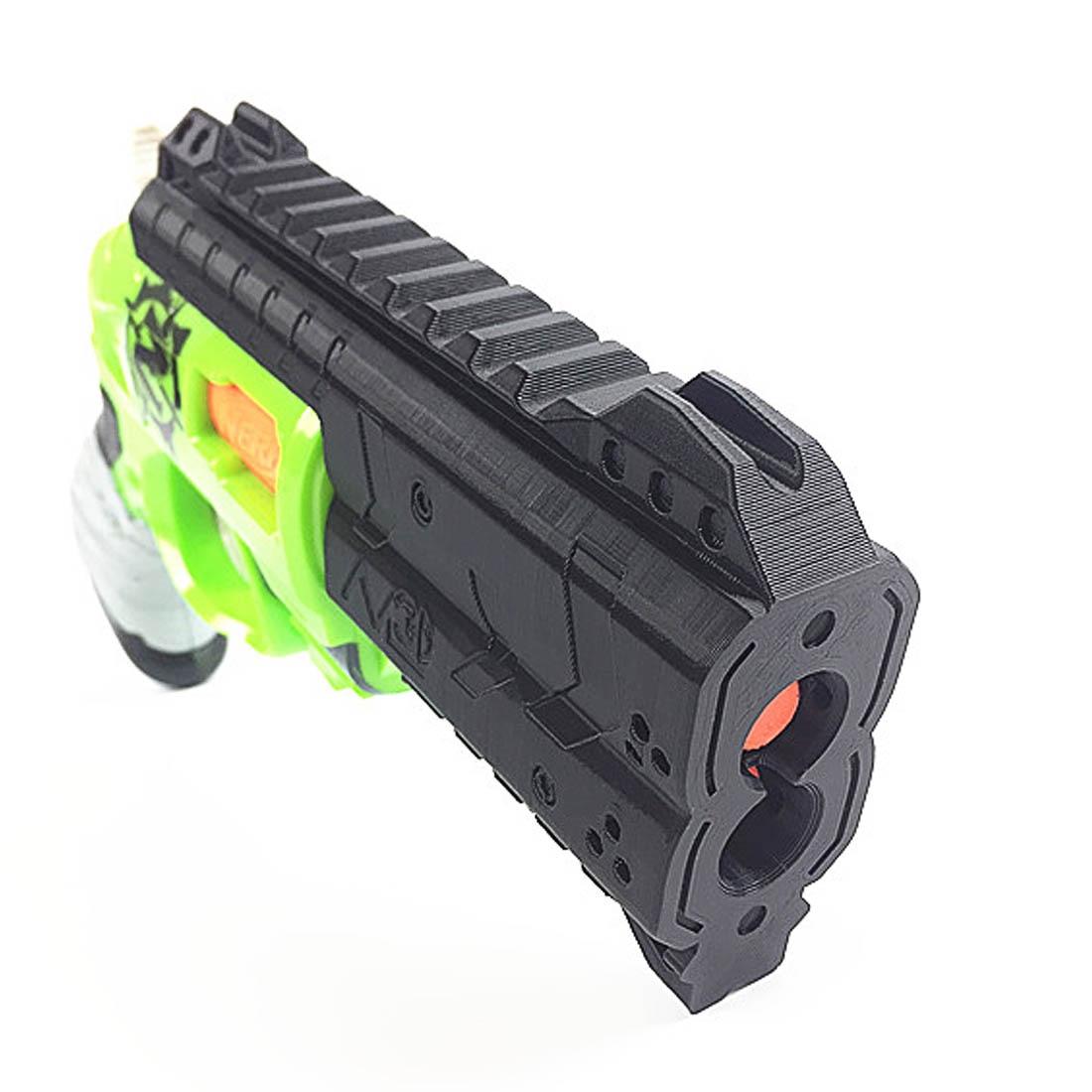 купить Surwish 3D Printing Front Tube A-3.0 Decoration Part for Nerf Zombie Strike Doublestrike Blaster-Black/ Orange/ Grey по цене 1259.99 рублей
