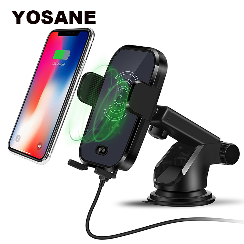 Black with Wireless Quick Charging Function,Fully Automatic Intelligent Induction Telescopic,car Phone Mount Vent 360 Rotating Mount,Universal Mobile Phone Bracket Vehicle-Mounted Phone Bracket