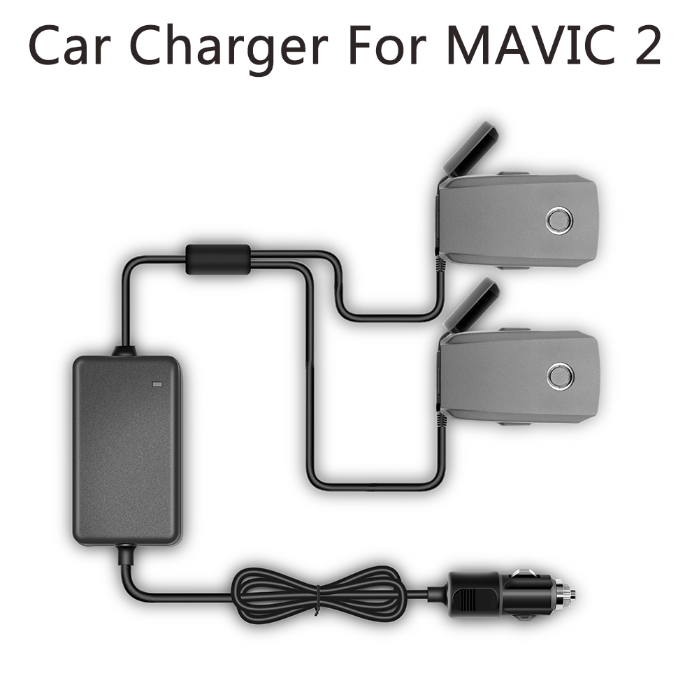 YX 1 to 2 Car Charger For DJI Mavic 2 Pro Zoom Drone Battery with 2 Battery Fast Charging Travel Transport Outdoor Charger