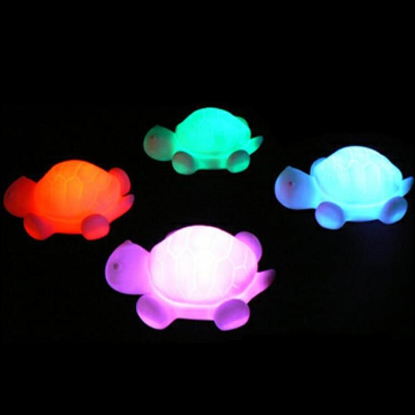 Lovely Turtle LED barvite spreminjajoče se nočne igrače Otroške najboljše rojstnodnevno božično darilo LED spalna svetilka