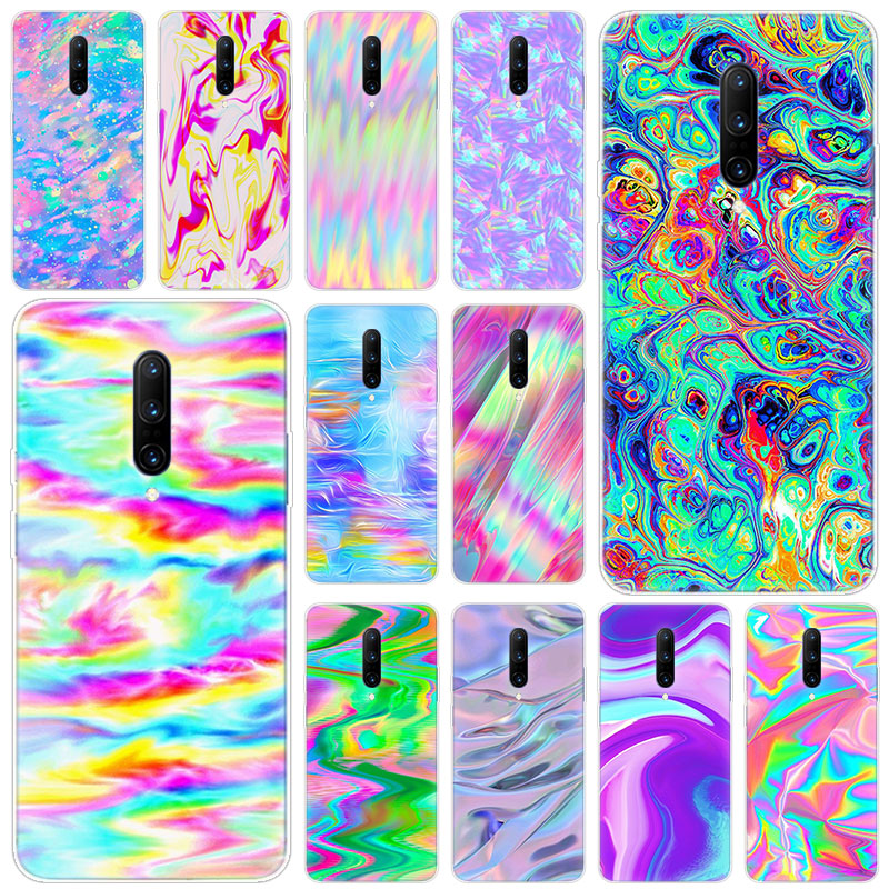 Hot Colorful rainbow art Soft Silicone Fashion Transparent Case For font b OnePlus b font font