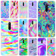 Hot Colorful rainbow art Soft Silicone Fashion Transparent Case For OnePlus 7 Pro 5G 6 6T 5 5T 3 3T TPU Cover