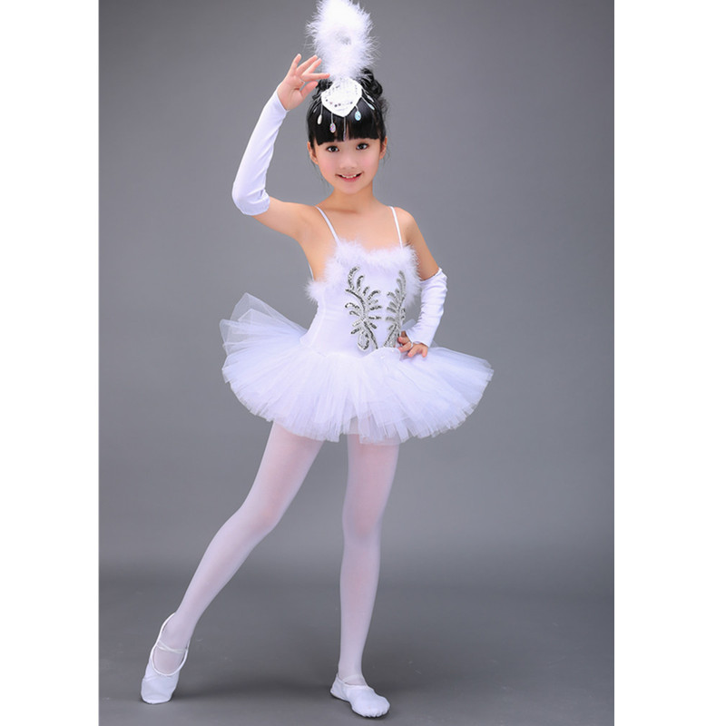 7bb39b537 2 16Y Child White Swan Lake Ballet Costume Girl Dance Dresses ...