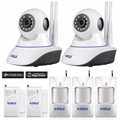 Original KERUI 720P WiFi IP Camera Home Office Burglar alarm System Motion Sensors Kit+ 32G SD Card