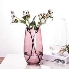 Nordic Fashion Flower Device Simple Glass Vase Living Room Decoration Home Flower Vase for Weddings