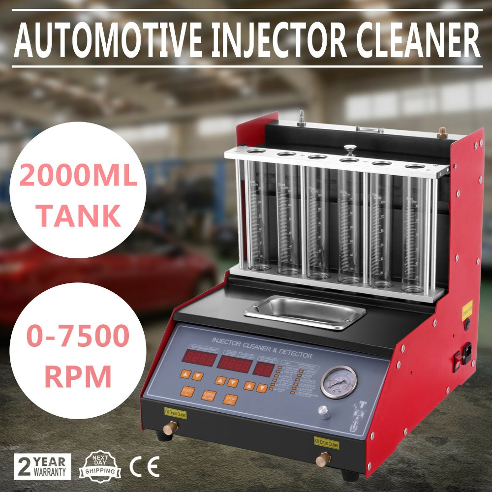 TQ 6 Petrol Injector Cleaner Tester 6 Cylinder Fuel Motorbike Injection Car