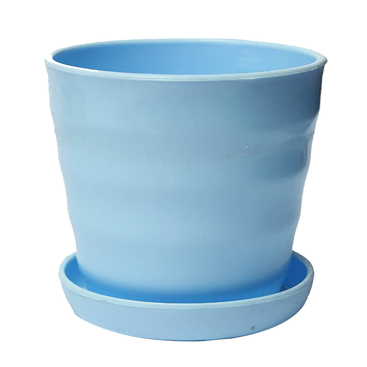 plastic round flower flower pot planter holder with tray home