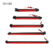 купить 12V Universal Red LED Car Styling Third Brake Light Bar Fog Lamp Rear Windshield Tail Light High Mount Stop 3RD Warning Light по цене 240.99 рублей