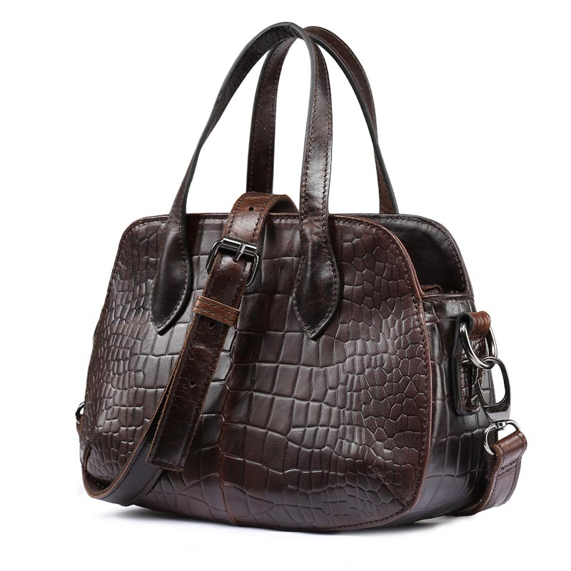 Luxury Genuine Leather Women Handbag Bag Vintage Crocodile Pattern Ladies Satchel Crossbody Messenger Tote Small Shoulder Bags freeshipping 2016 genuine leather man small bag vintage clutch bag crocodile pattern leather men messenger bags 7267c
