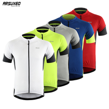 ARSUXEO Cycling Jersey Tops Men Summer Racing Cycling Clothing Bicycle Clothing Quick Dry Short Sleeve MTB Bike Jersey Shirt стоимость