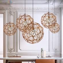 Modern Pendant Lamp iron Dixon Etch Web Pendant Light Art Diamond Ball Stainless Steel Dining Room Bedroom Hanging Lamps lustre недорого