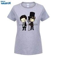 GILDAN 여름 T 셔츠 브랜드 피트니스 바디 빌딩 당황! 동시에 디스코 짧은 소매 인쇄 크루 넥 셔츠