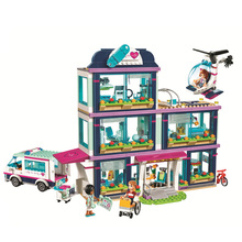 932pcs Heartlake City Park Love Hospital Girl Friends Building Block Compatible LegoINGly Friends Brick Toy for gifts