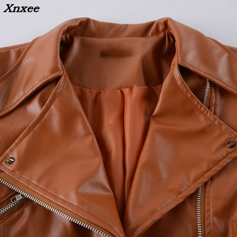 women 39 s fuax leather jacket for women winter 2018 motorcycle leather coat female jacket zipper leather clothes Xnxee in Leather Jackets from Women 39 s Clothing