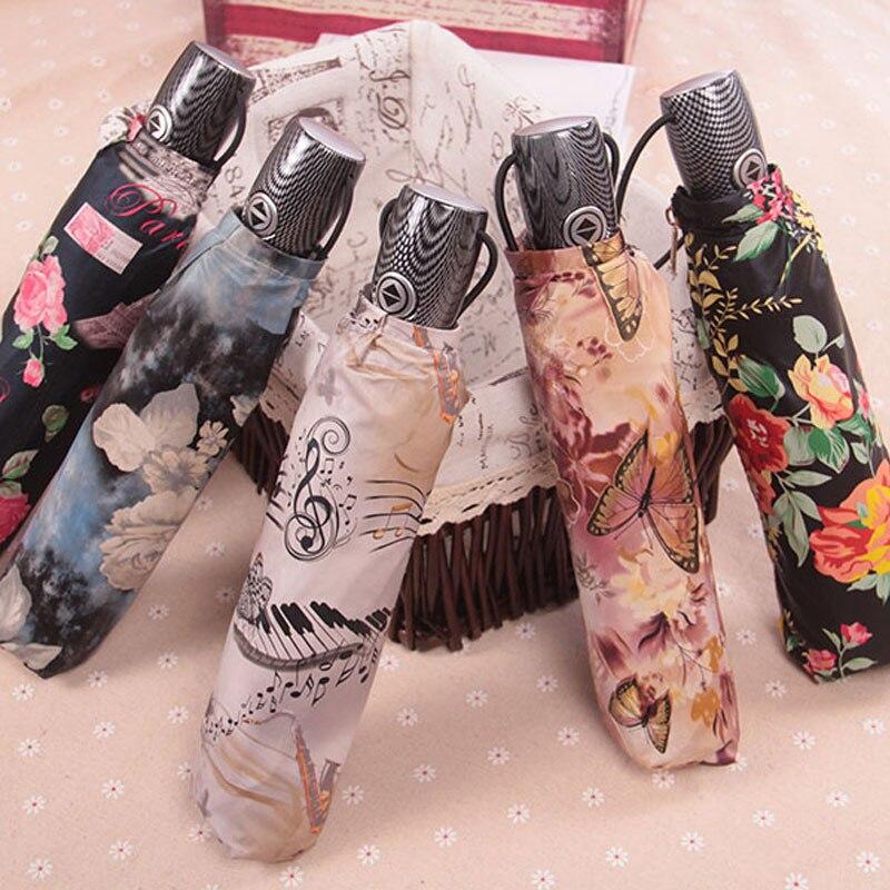TOPX parapluie pluie femmes hommes haute qualité coupe-vent ultraléger pliant parapluie soleil pluie peinture à l'huile automatique parapluie parasol