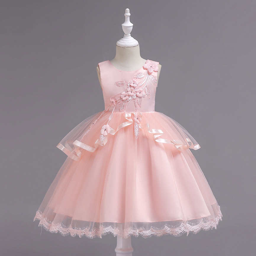 72f5b6db2 New Girls Dress Mesh Diamond Children Wedding Party Dresses Kids Evening  Ball Gowns Formal Baby Frocks Clothes for baby Girl-in Dresses from Mother  & Kids ...