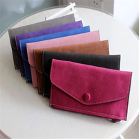 New Arrive 2016 Fashion Womens Wallets And Purses Artificial Leather Wallets Zipper Hasp Flat Clutch Wallet
