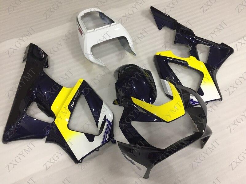 Мотоцикл обтекатель CBR929RR 2000 2001 цвет черный, белый, желтый; Большие размеры 34–43 тела Наборы CBR900 929 00 01 Пластик Обтекатели CBR 929RR 2000