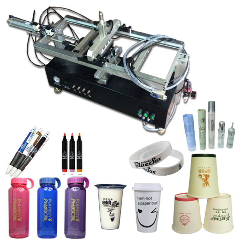 auto screen printing machine for round products,curve silk screen printing