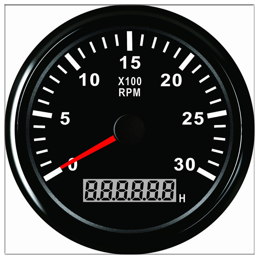 RPM mete Hour 85 mm Engine Tachometer REV Counter 0 3000 RPM With LED Car Truck