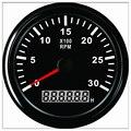 RPM mete Hour 85 мм Тахометр для двигателя счетчик оборотов 0-3000 об/мин со светодиодной подсветкой для автомобиля  грузовика  лодки  подвесной 12 В/24 ...