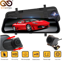 1920*1080P 9.68 HD Full Touch IPS Screen Car DVR Mirror Monitor With Front Rear Double Recorder Starlight Night Vision Camera