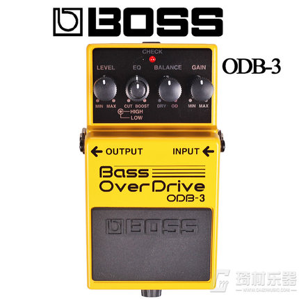 Boss Audio ODB-3 Bass Overdrive Pedal with 2-band Equalizer boss cs 3