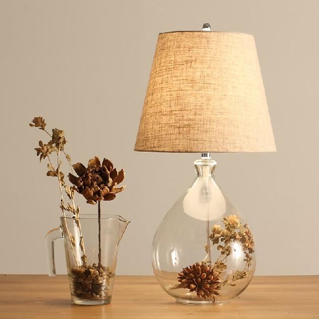 Ikea Nordic simple moderna vintage estilo de carácter lucencia cristal DIY lámparas de mesa en ...