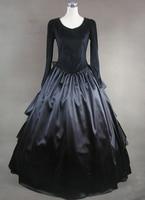 Black Bow Multi Layer Aristocrat Gothic Style Dress