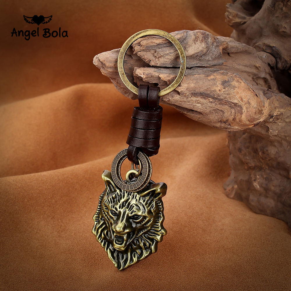 Game Final Fantasy Viking Keychain 3D Wolf Head Pendant Key Ring Key Chains Charm Cosplay Jewelry Fashion Car Keyring