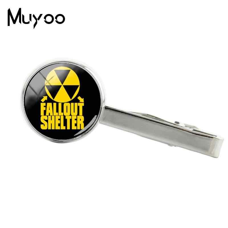 2018 New Fallout Nơi Trú Ẩn Kẹp Cà Vạt Thời Trang Trò Chơi Clip Glass Cabochon Clip Ảnh Handmade Đồ Trang Sức Chất Lượng Cao