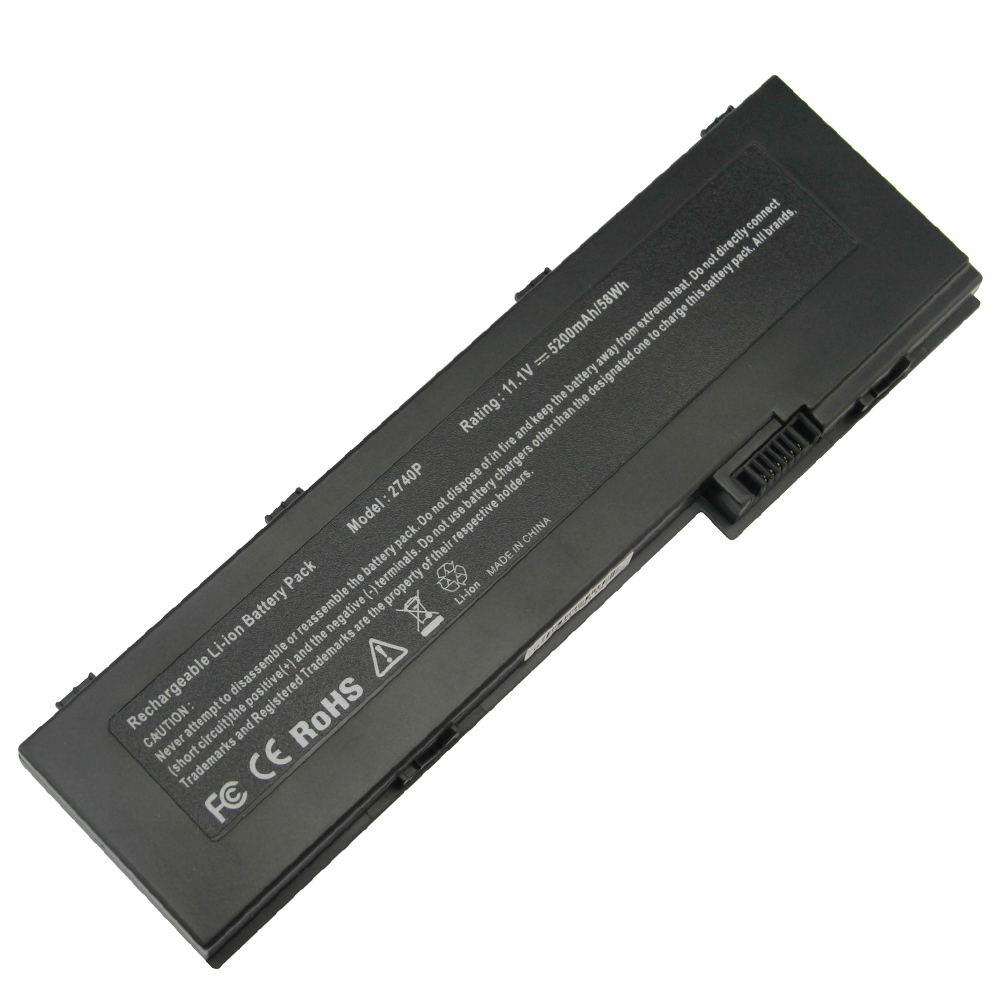 5200mAh for HP Laptop battery EliteBook 2730p 2740p 2760P Bu