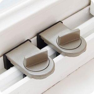 Image 4 - vanzlife Locks on Windows adjustable security door latch Mobile window insurance lock anti theft protection lock window stoppers