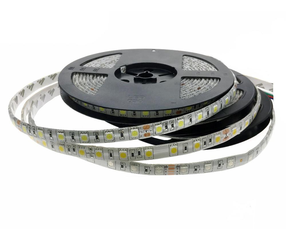 DC 24V 5050 LED Strip 5M / Roll 300LED Bandă LED impermeabilă 5050, - Iluminat cu LED