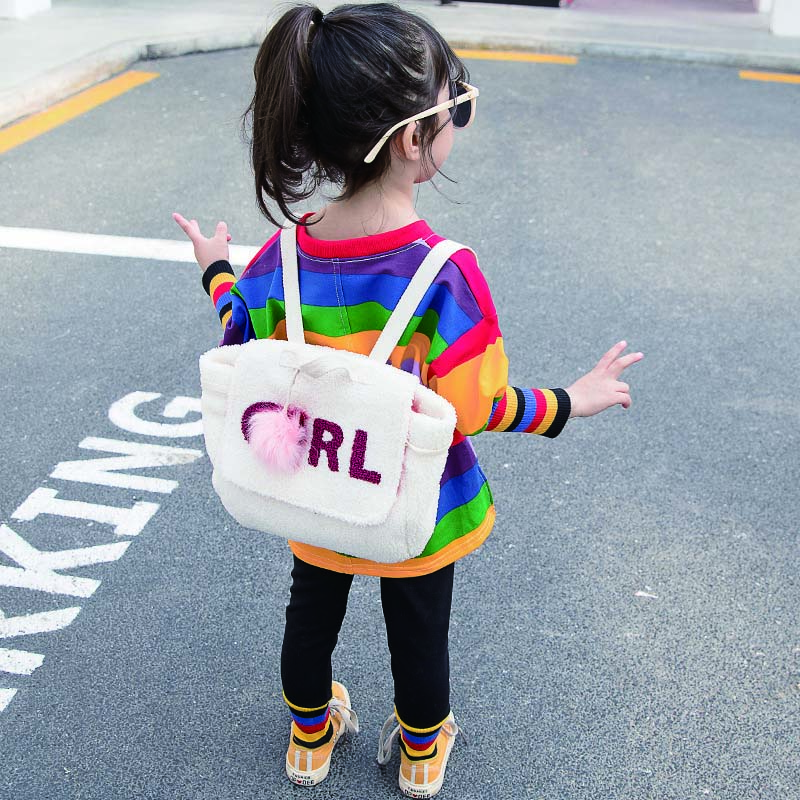 Children Girls New Autumn Fashion Casual Long Sleeve Colorful Striped Top Leggings Cotton Underwear Set 1 6Y Baby Girl Clothe in Clothing Sets from Mother Kids