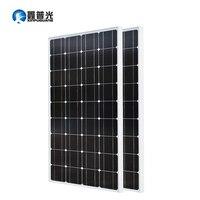 Xinpuguang 200 Вт Панели солнечные комплект 2*100 Вт 1175*530*25 мм Солнечный фотоэлектрических монокристаллического кремния ячейки дома Мощность заряд