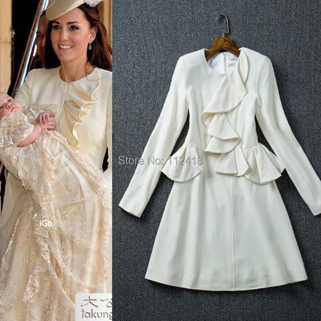 Us 51 0 Jual Panas Baru Putri Kate Middleton Ruffles Dress Pesta Lengan Panjang Elegan 28a19 Di Dresses Dari Pakaian Wanita Aliexpress Com