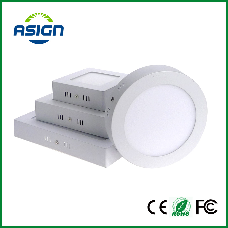 Surface Mounted Led Panel Downlight 6w 12w 18w Round