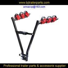 car/vehicle bike rack, 3 bike auto truck trailer hitch rack fold up hitch mount bicycle rear carrier
