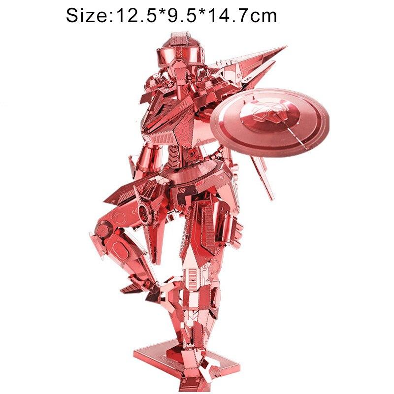 Puzzles 3D en métal modèle adulte enfants bricolage puzzle 7 étoiles niveau de difficulté