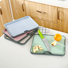 HS050 Kitchen Antiskid chopping board grinding double-sided board mashed garlic ginger 34*27.5*1.5cm цена